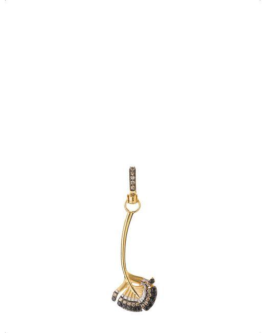Annoushka - Yellow Mythology 18ct Gold And Diamond Falcon Feather Charm - Lyst