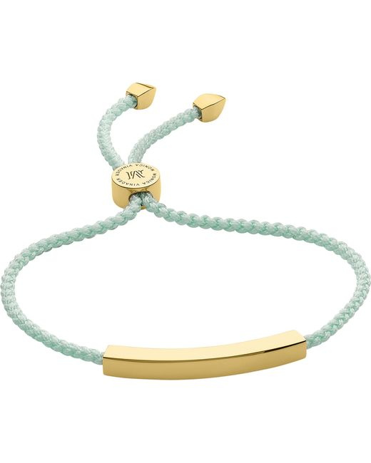 Monica Vinader - Metallic Linear 18 Carat Gold Plated Vermeil Friendship Bracelet - Lyst