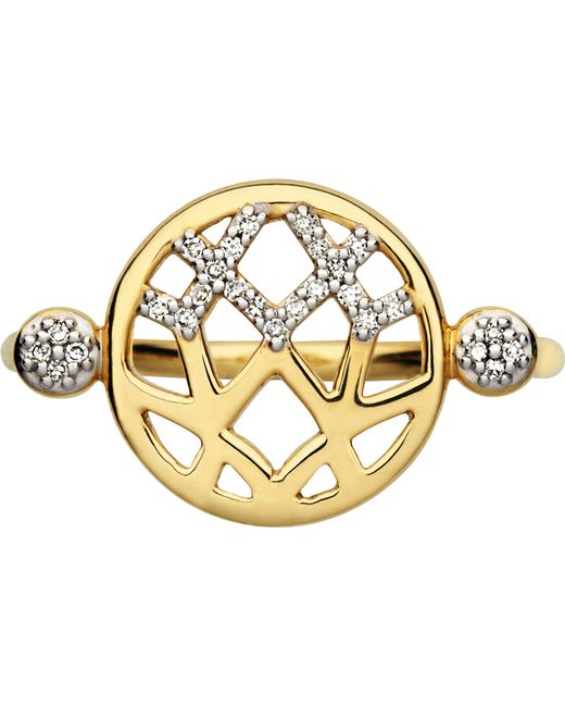 Links of London | Metallic Timeless Gold 18ct Yellow-gold And Diamond Ring | Lyst
