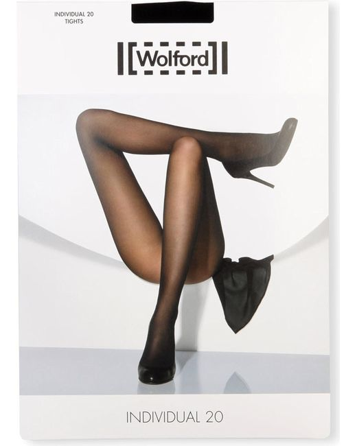 Wolford - Black Matte Transparent Tights - Lyst
