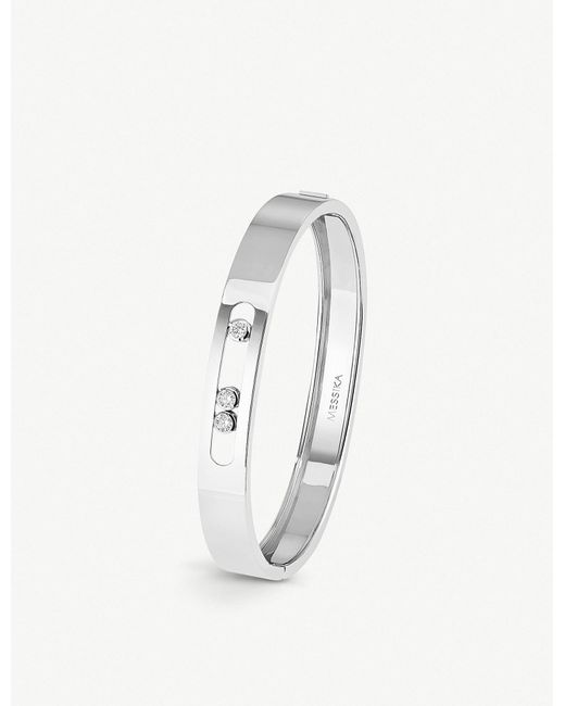 Messika - Move Joaillerie 18ct White-gold And Diamond Bangle - Lyst