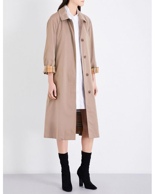 Burberry | Multicolor Brighton Cotton-gabardine Car Coat | Lyst