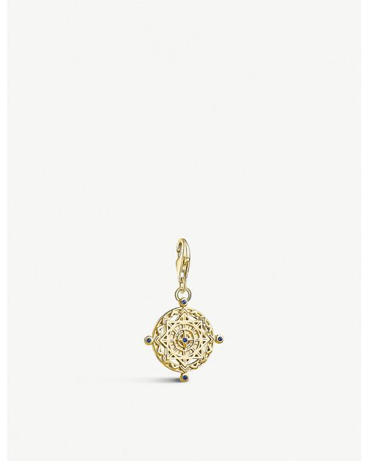 Thomas Sabo - Metallic Compass 18ct Yellow Gold-plated Charm - Lyst