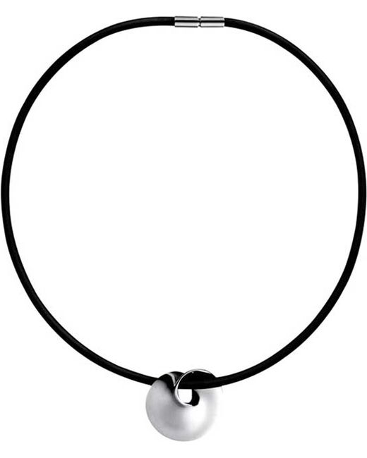 Georg Jensen | Black Möbius Silver Pendant | Lyst
