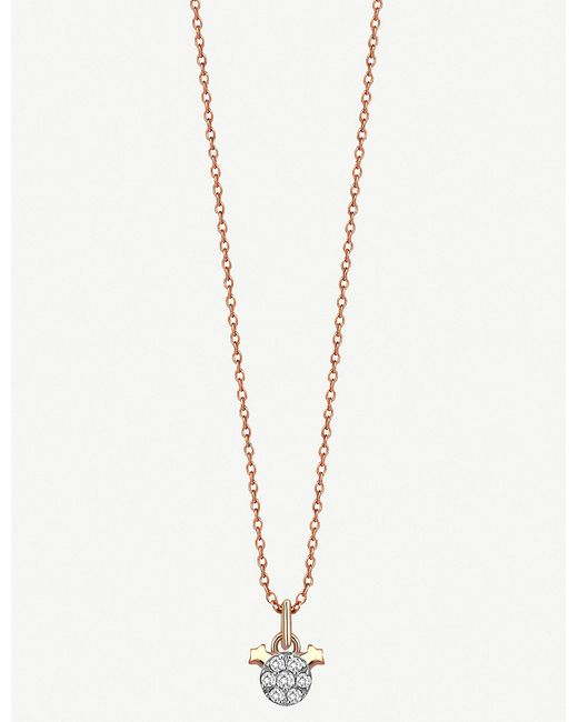 The Alkemistry - Metallic Kismet By Milka 14ct Rose-gold Gemini Necklace - Lyst