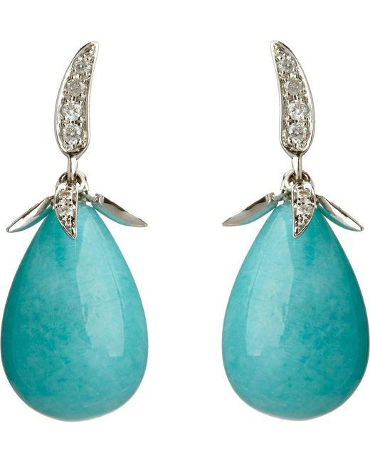 Annoushka | Blue Chilli White Heat 18Kt White-Gold, Amazonite And Diamond Earrings - For Women | Lyst