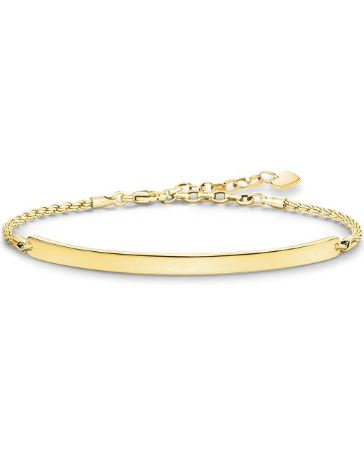 Thomas Sabo | Metallic Love Bridge 18ct Yellow Gold-plated Bracelet | Lyst