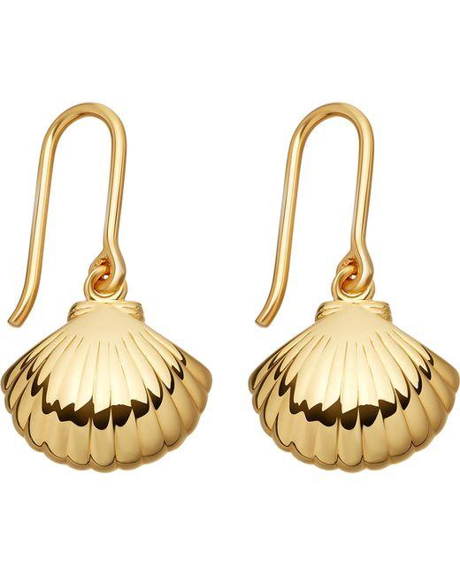 Astley Clarke | Metallic Biography 18ct Yellow-gold Shell Drop Earrings | Lyst