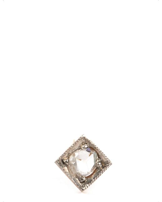 Annina Vogel - Metallic 9 Carat Gold And Diamond Solitaire Earring - Lyst