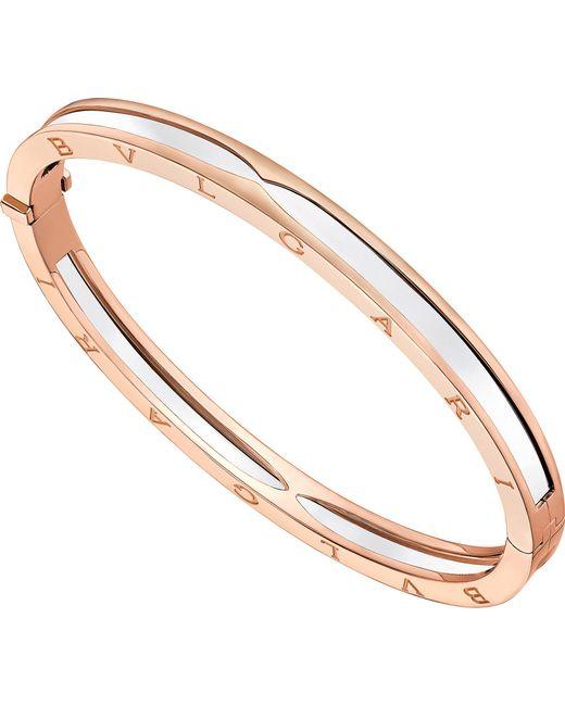 BVLGARI - Metallic B.zero1 18kt Pink-gold Bangle Bracelet - Lyst