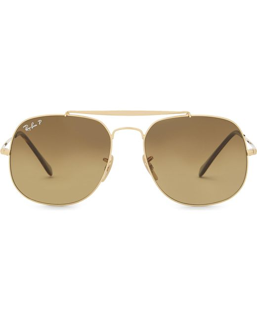 Ray-Ban - Metallic Rb3561 General Square-frame Sunglasses - Lyst