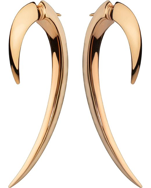 Shaun Leane - Metallic Silver And Rose Gold-plate Hook Earrings Size 1 - Lyst