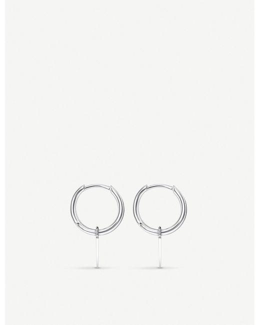 Thomas Sabo - Metallic Spike Mini Sterling Silver Hoop Earrings - Lyst