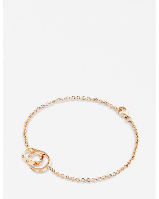 Cartier   Love 18ct Pink-gold Bracelet   Lyst