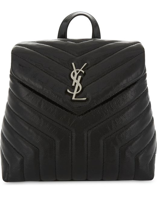 Saint Laurent | Black Loulou Small Leather Backpack | Lyst