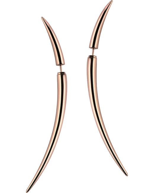 Shaun Leane - Metallic Rose Gold Vermeil Quill Earrings - Lyst