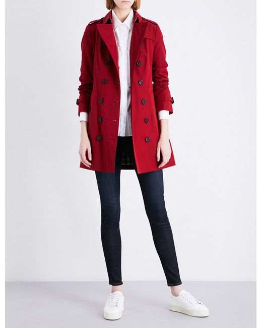 Burberry - Red Sandringham Cotton Trench Coat - Lyst