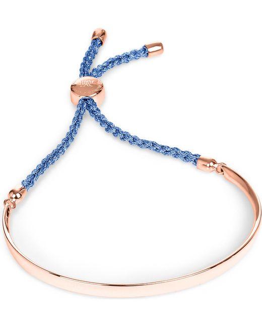 Monica Vinader | Blue Fiji 18ct Rose Gold-plated Friendship Bracelet | Lyst