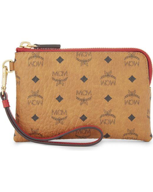 MCM | Multicolor Visetos Leather Wallet | Lyst