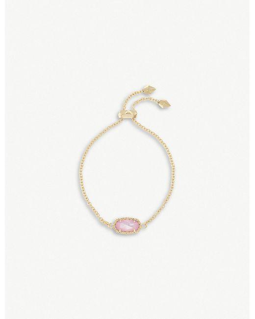 Kendra Scott - Metallic Elaina 14ct Gold And Blush Mother-of-pearl Chain Bracelet - Lyst