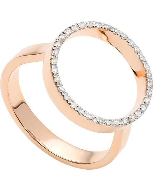 Monica Vinader - Metallic Naida Circle Open 18ct Yellow-gold Vermeil And Diamond Ring - Lyst