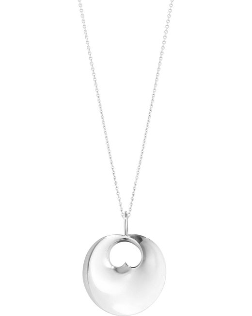 Georg Jensen - Metallic Hidden Heart Sterling Silver Pendant - Lyst