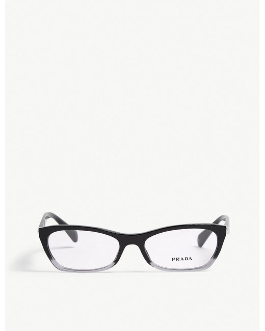 aca3f1953e9 Prada Pr15pv Cat-eye-frame Glasses in Black - Lyst