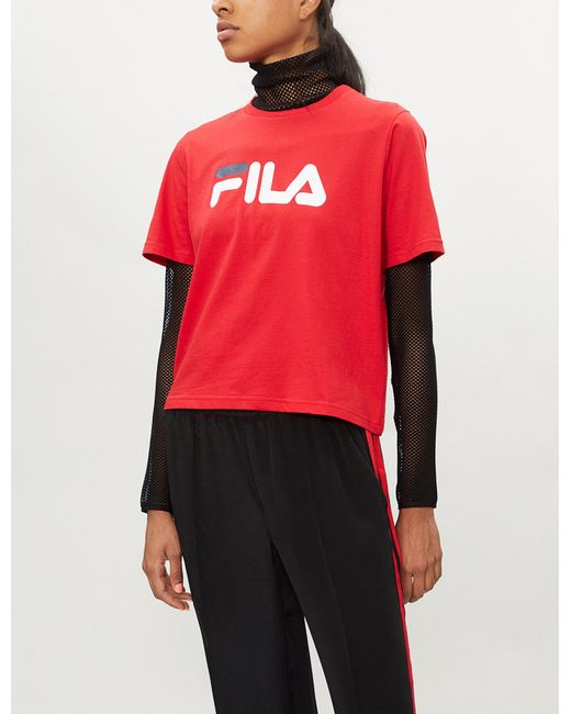 Fila - Red Miss Eagle Cotton-jersey T-shirt - Lyst