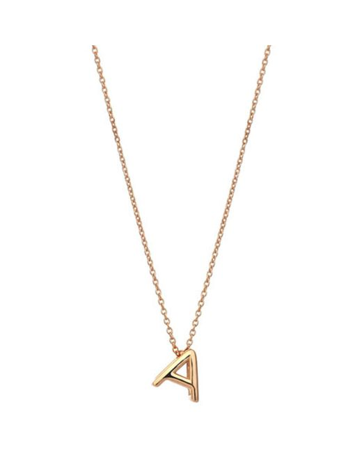 The Alkemistry - Metallic Kismet By Milka 14ct Rose-gold Initial A Necklace - Lyst