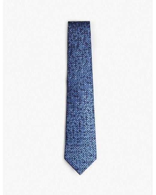Lanvin - Blue Dégradé Dash Silk Tie for Men - Lyst