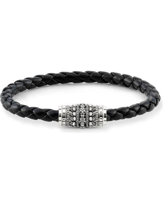 Thomas Sabo - Black Plaited Skull Unity Bracelet for Men - Lyst