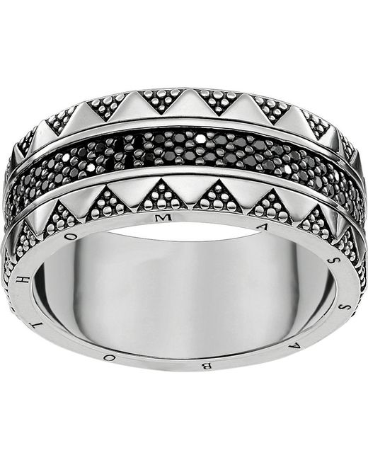 Thomas Sabo - Metallic Filigree Sterling Silver And Zirconia Ring - Lyst