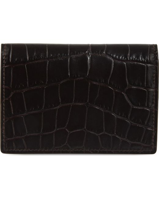 Smythson - Black Mara Leather Card Case - Lyst