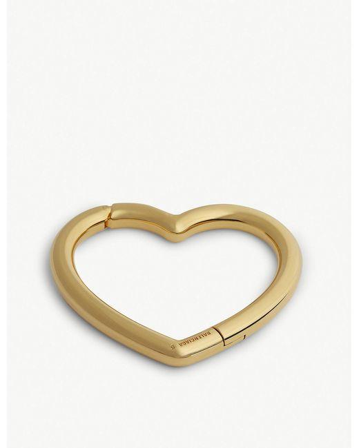 Balenciaga - Metallic Gold Heart Bracelet - Lyst