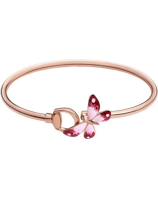 Gucci - Metallic Flora 18ct Rose Gold Butterfly Bracelet - Lyst