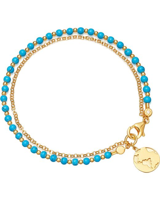 Astley Clarke - Metallic Earth Biography 18ct Gold Plated Sterling Silver Bracelet - Lyst