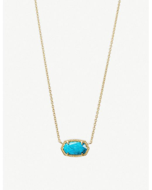 Kendra Scott - Metallic Elisa 14ct Gold-plated And Magnesite Necklace - Lyst