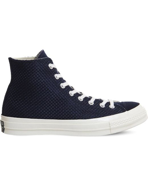 Converse - Blue All Star 70 Woven Canvas And Suede High-top Trainers for Men - Lyst
