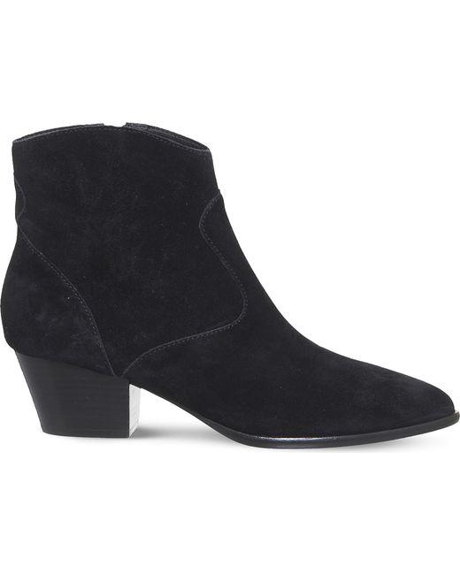 Ash - Black Heidi Bis Suede Ankle Boots - Lyst