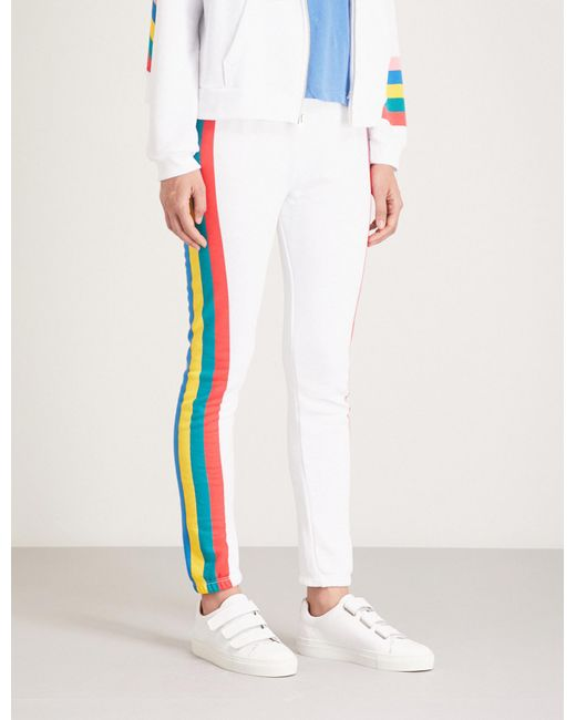 Wildfox - White Rainbow Print jogging Bottoms - Lyst