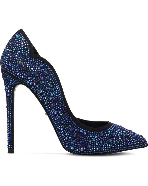 Carvela Kurt Geiger | Blue Glassy Embellished Courts | Lyst