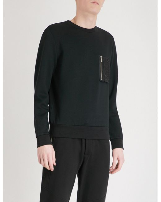 The Kooples - Black Pocket-detail Jersey Sweatshirt for Men - Lyst