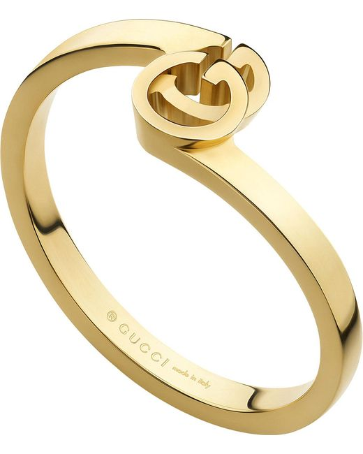 Gucci | Metallic Gg 18ct Gold Ring | Lyst