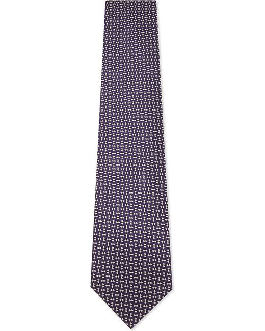 Ermenegildo Zegna | Mens Purple Square Diamond-square Silk Tie for Men | Lyst