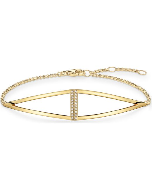 Thomas Sabo - Black Triangle Yellow Gold-plated And Diamond Bracelet - Lyst