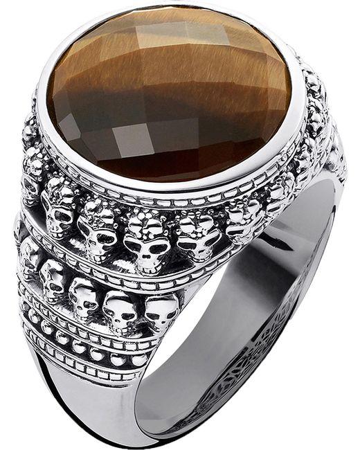 Thomas Sabo | Metallic Rebel At Heart Tiger's Eye Sterling Silver Ring | Lyst