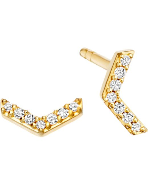 Astley Clarke - Metallic Varro Honeycomb 14ct Yellow Gold And Diamond Stud Earrings - Lyst