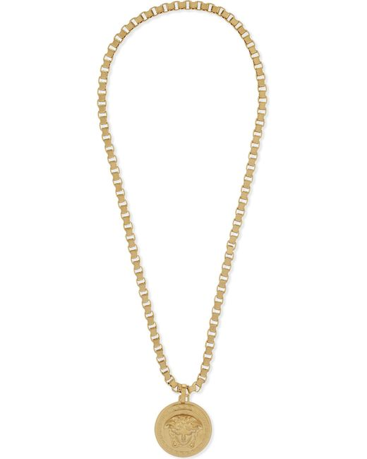 Versace - Metallic Medusa Pendant Necklace for Men - Lyst