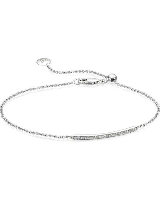 Monica Vinader - Black Skinny Short Bar Bracelet - Lyst