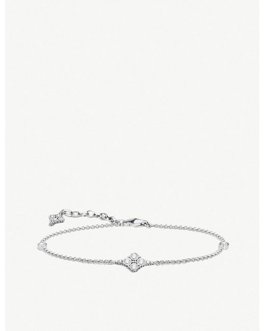 Thomas Sabo - Metallic Kingdom Of Dreams Sterling Silver Cubic Zirconia Bracelet - Lyst